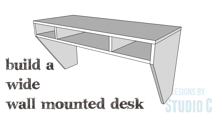 Diy Furniture Plans To Build A Wide Wall Mounted Desk