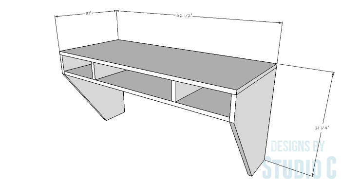 DIY Furniture Plans to Build a Wide Floating Desk