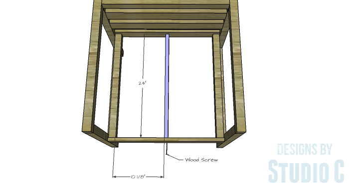 DIY Furniture Plans to Build a Modern Outdoor Chair - Center Seat Support