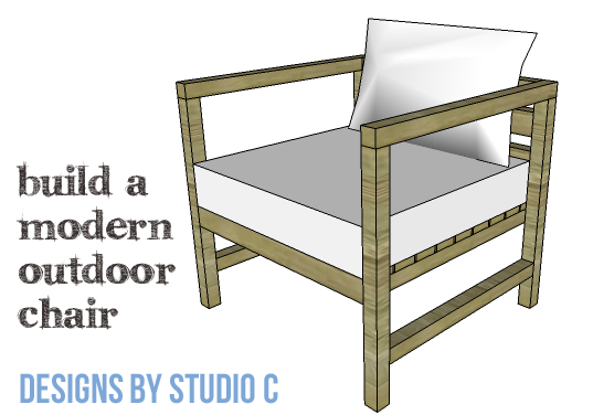 DIY Furniture Plans to Build a Modern Outdoor Chair - Copy