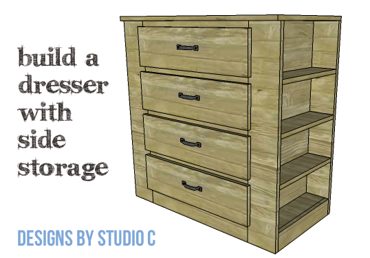 DIY Furniture Plans to Build a Dresser with Side Storage - Copy