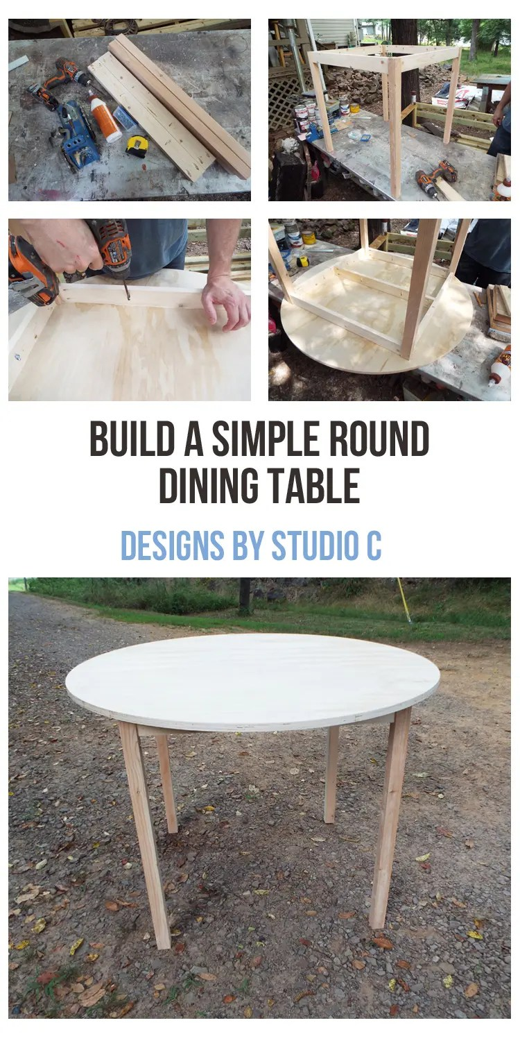 This super-easy table takes only a few hours to build. The top can be cut from plywood or planked boards. A cut list for different sizes is also included in the plans!