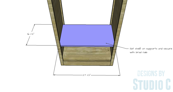 DIY Furniture Plans to Build a Freestanding Open Clothes Wardrobe - Shelf