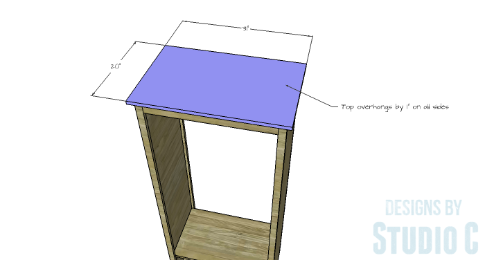DIY Furniture Plans to Build a Freestanding Open Clothes Wardrobe - Top