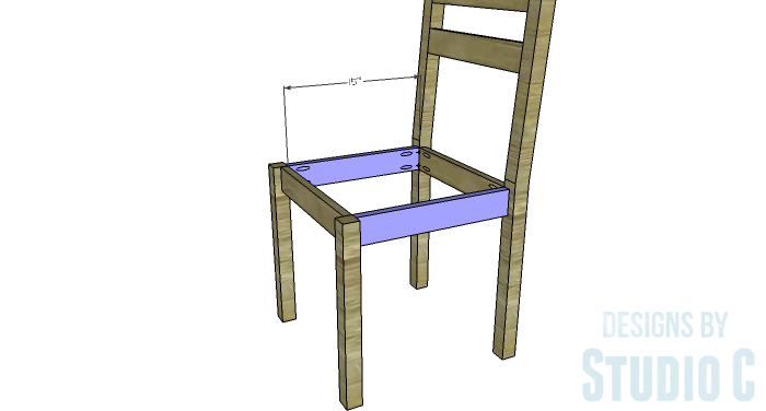 DIY Furniture Plans to Build a Long Chair Bench - Side Stretchers