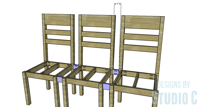DIY Furniture Plans to Build a Long Chair Bench - Spacers
