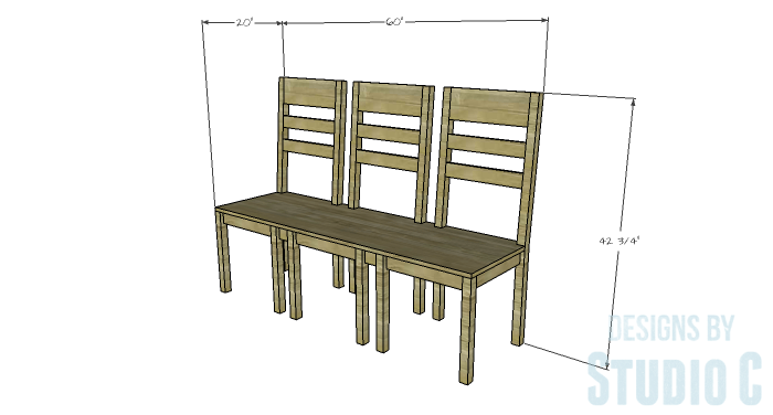 DIY Furniture Plans to Build a Long Chair Bench