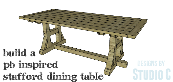 DIY Furniture Plans to Build a PB Inspired Stafford Dining Table - Copy 1