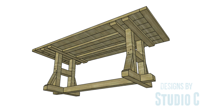 DIY Furniture Plans to Build a PB Inspired Stafford Dining Table - Copy 2