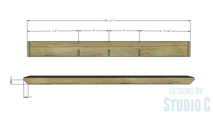 DIY Furniture Plans to Build a PB Inspired Stafford Dining Table - Widthwise Top Supports 1
