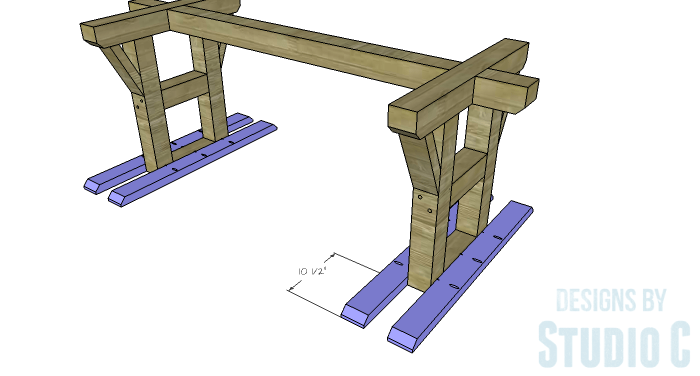 DIY Furniture Plans to Build a PB Inspired Stafford Dining Table - Widthwise Top Supports 2