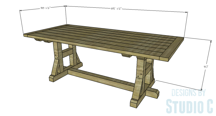 DIY Furniture Plans to Build a PB Inspired Stafford Dining Table