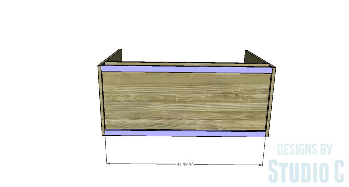 DIY Furniture Plans to Build a Stackable Cabinet - Bottom Supports