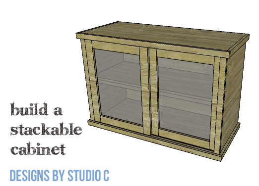 DIY Furniture Plans to Build a Stackable Cabinet - Copy