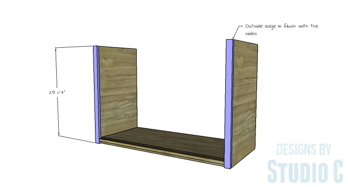 DIY Furniture Plans to Build a Stackable Cabinet - Side Faces