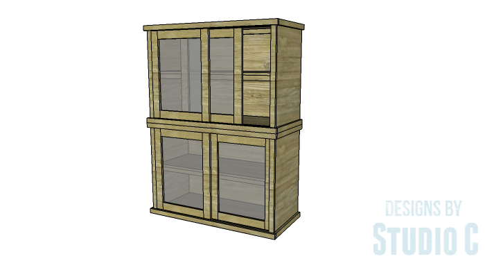 DIY Furniture Plans to Build a Stackable Cabinet - Stacked