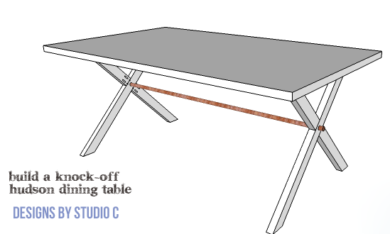 DIY Furniture Plans to Build a Knock Off Hudson Dining Table : Ballard Designs Inspired Hudson Dining Table Copy 1 copy from designsbystudioc.com size 549 x 330 png 10kB