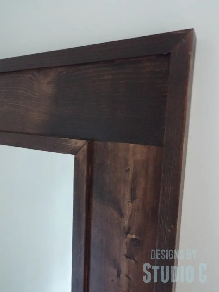 DIY Furniture Plans to Build a Simple Mirror Frame - Close Up Corner