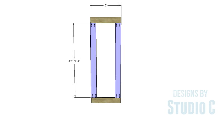DIY Furniture Plans to Build a Simple Mirror Frame -frame-base