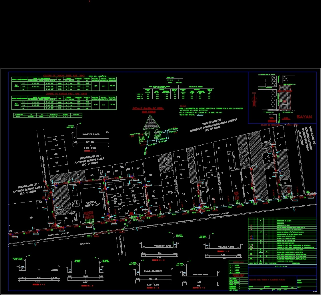 Low Voltage Networks And Street Lighting Dwg Block For
