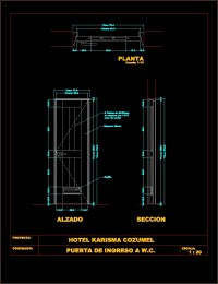 Wooden Sliding Door Dwg - Sliding Door Designs