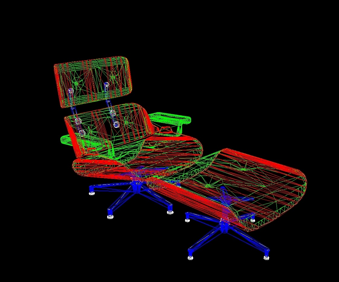 Eames Chair Autocad Block Eames Lounge 3d Dwg Model For Autocad Designs Cad