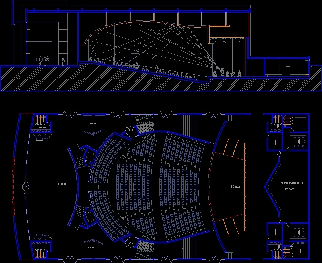 Bagno Dwg Theater Dwg Full Project For Autocad – Designs Cad