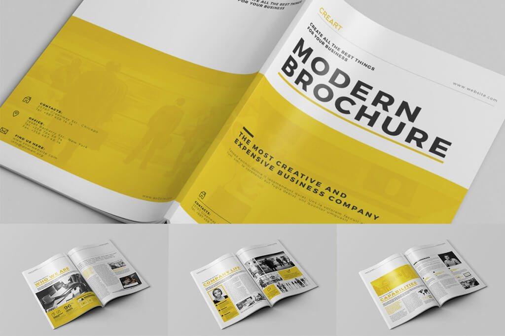 70+ Modern Corporate Brochure Templates Design Shack - company brochure templates