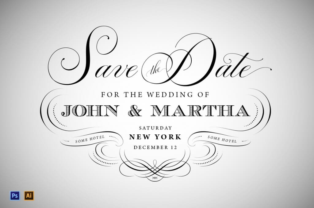 90+ Gorgeous Wedding Invitation Templates Design Shack - Save The Date Wedding Templates