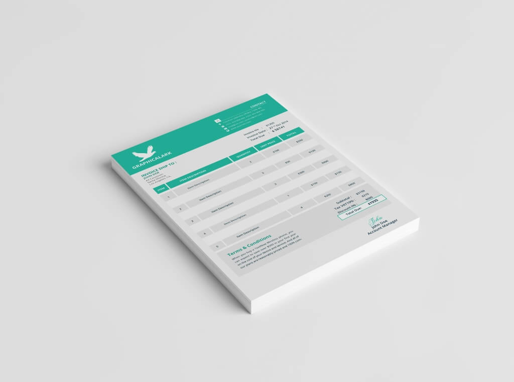 80+ Modern Stationery Templates Design Shack - essential invoice elements