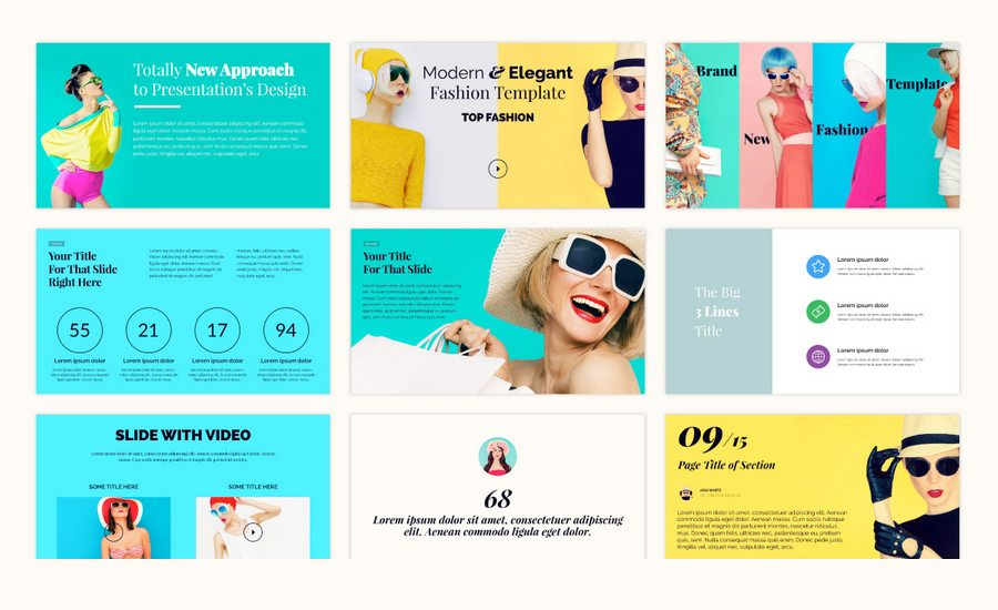 colorful presentation Art + Design Pinterest Powerpoint themes - video brochure template