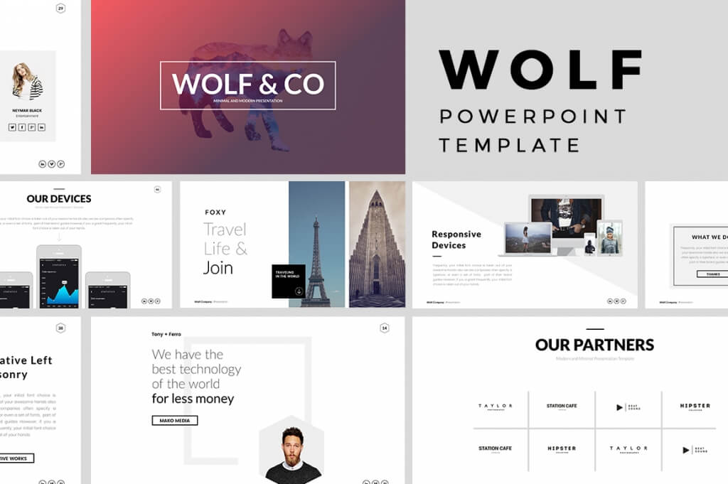 25+ Best Minimal PowerPoint Templates 2018 Design Shack