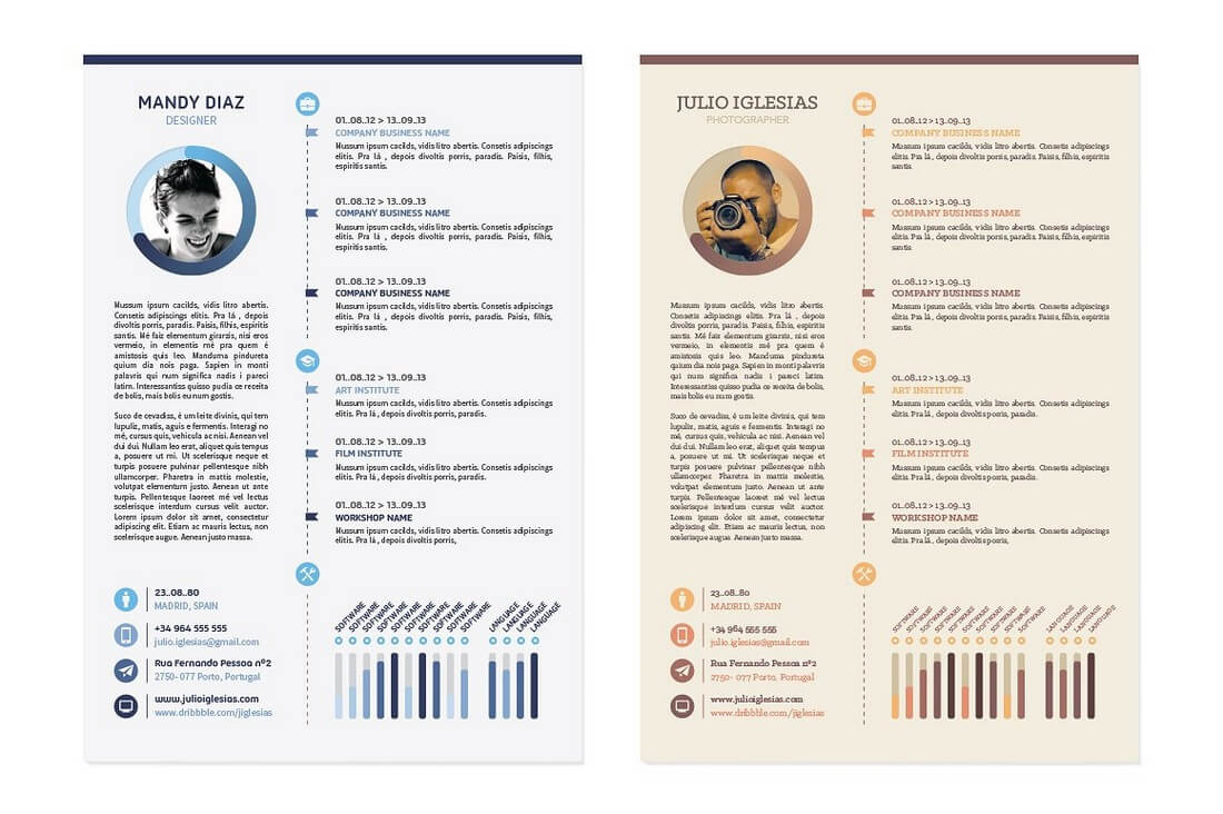 Graphic Design Employment Advice And Essential Job Training The Best Cv And Resume Templates 50 Examples Design Shack