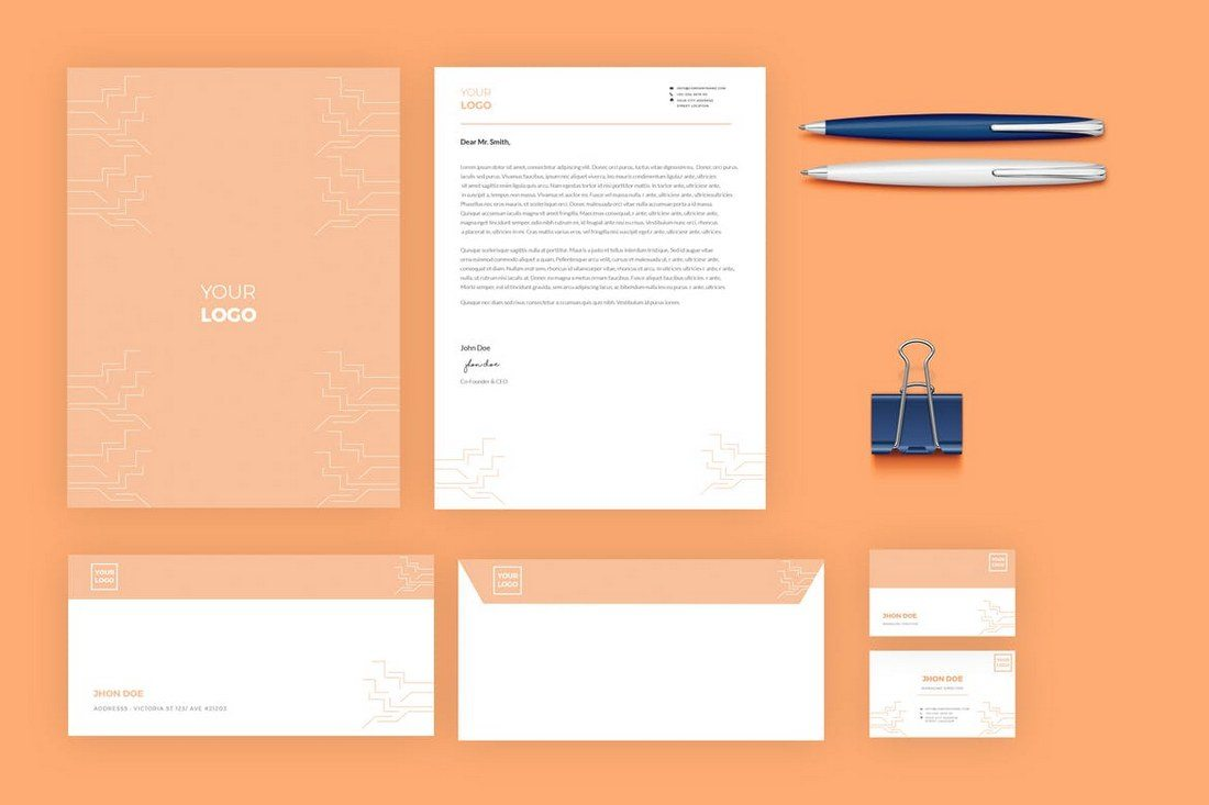 80 modern stationery templates healthcare web design and