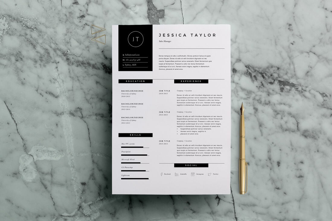 design for a serious cv