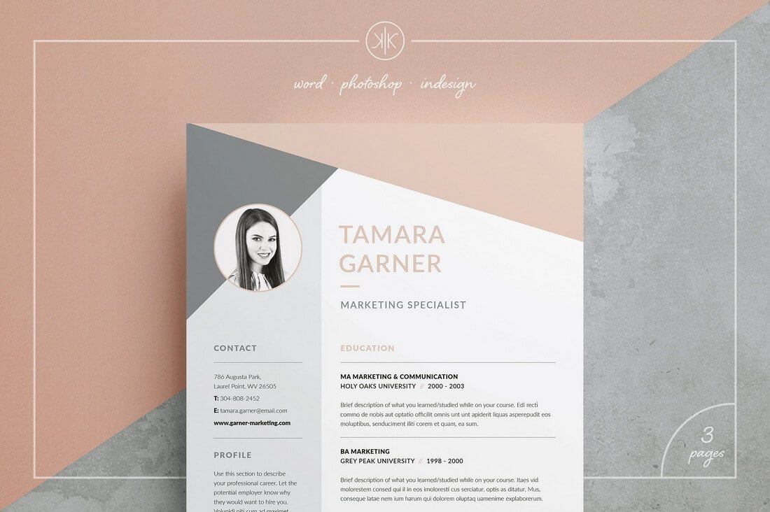 custom color modern cv