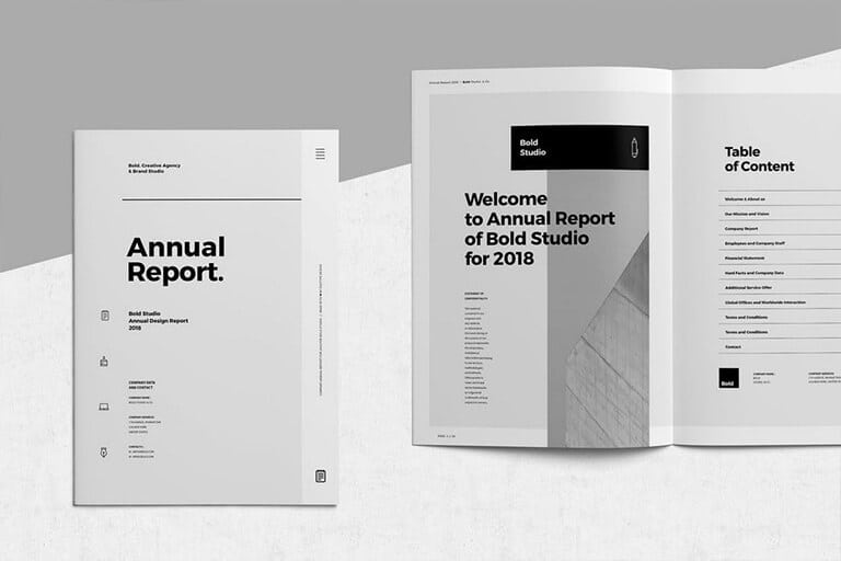 20+ Annual Report Templates (Word  InDesign) 2018 Design Shack