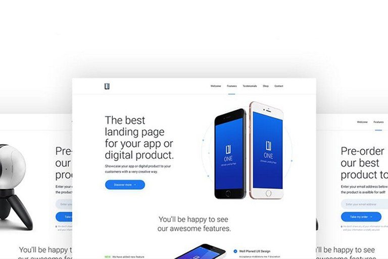 35+ Best App Landing Page Templates 2018 Design Shack