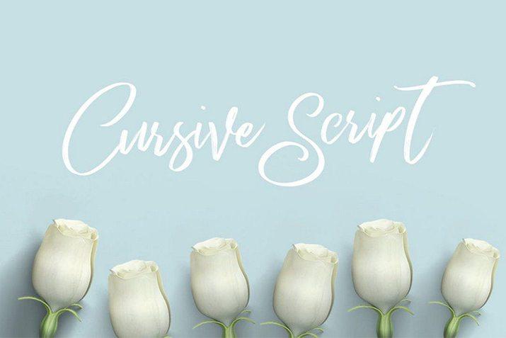 20+ Best Cursive  Script Fonts Design Shack