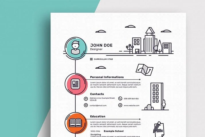50+ Best CV  Resume Templates of 2019 Design Shack