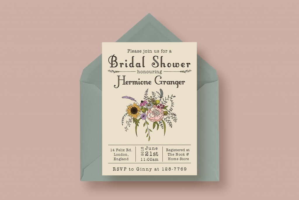 90+ Gorgeous Wedding Invitation Templates Design Shack - bridal shower invitation templates for word