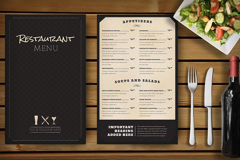 30 Food \ Drink Menu Templates Design Shack - sample chalkboard menu template