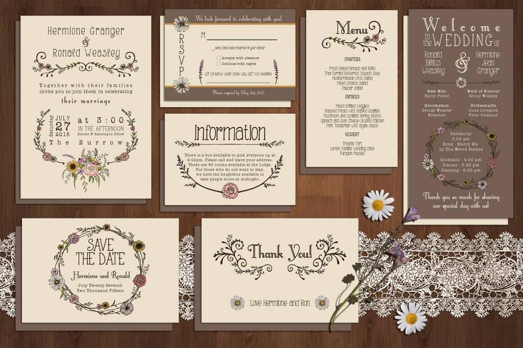 90+ Gorgeous Wedding Invitation Templates Design Shack - free wedding invitation card templates