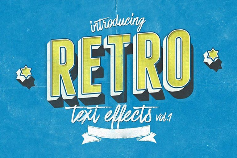 30+ Best Retro Text Effects  Styles Design Shack