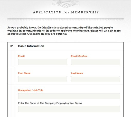 20 Great Sign Up Form Examples to Learn From Design Shack