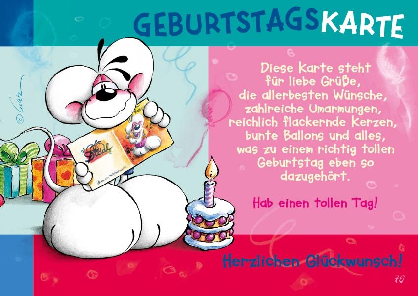 Geburtstagskarte Comic  Cartoons Echte Postkarten online versenden