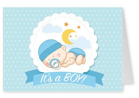 It\u0027s a boy Baby  Family Cards Send real postcards online