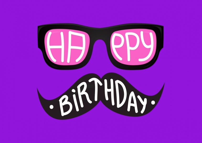 Hipster Geburtstagskarte Geburtstag Echte Postkarten online