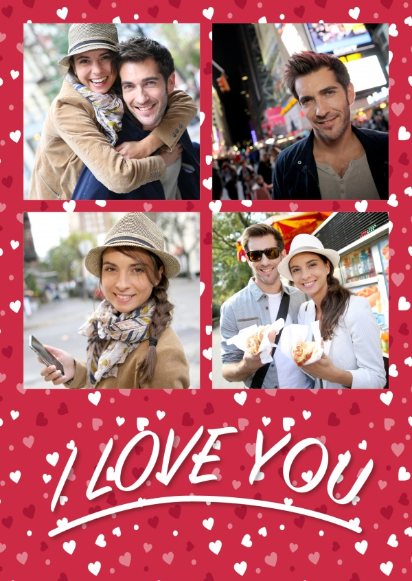 Free Printable I love you Photo Cards Templates Print and Mailed