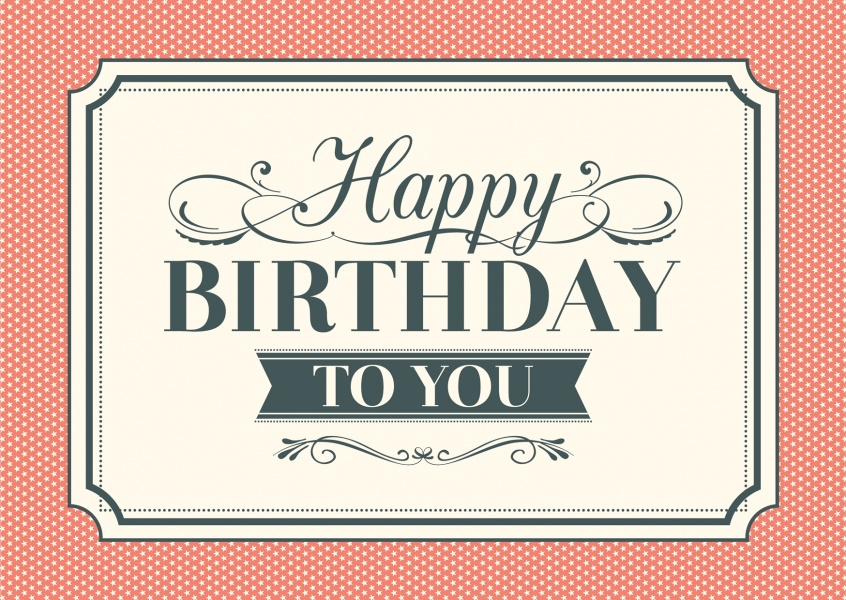 Vintage Style Happy Birthday Cards Send real postcards online - birthday card layout